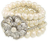 Carolee Grand Entrance Faux-Pearl Stretch Bracelet