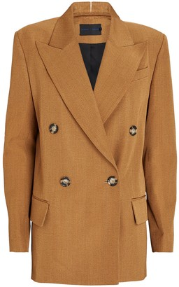 Proenza Schouler Double-Breasted Suiting Blazer