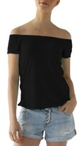 LAmade Women's Imelda Tissue Jersey Off The Shoulder Tee