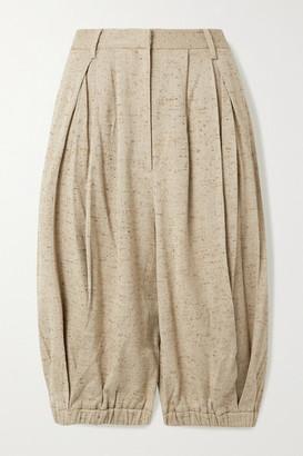 Tibi Pleated Tweed Shorts