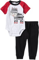 Koala Baby Zebra Bodysuit & Knit Joggers 2-Piece Set (Baby Boys 0-9M)