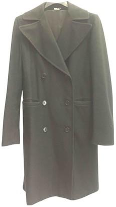 Piombo Massimo Black Wool Coat for Women