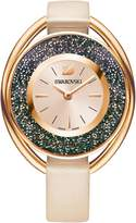 Swarovski Crystalline Oval Watch, Beige
