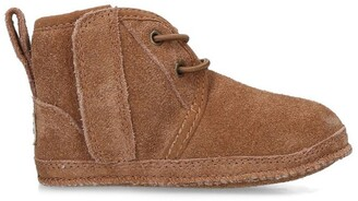 Ugg Kids Suede Neumel Booties and Beanie Gift Set