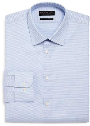 Bloomingdale's The Men's Store at The Men's Store Micro-Pattern Stretch Regular Fit Dress Shirt