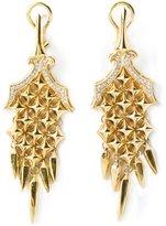 Stephen Webster chamfered bale dagger diamond earrings
