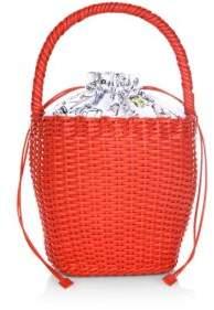 Edie Parker Lily Leather Handbag