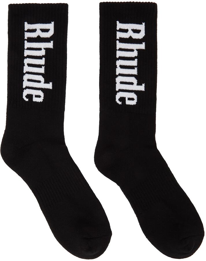 Rhude Black Logo Socks
