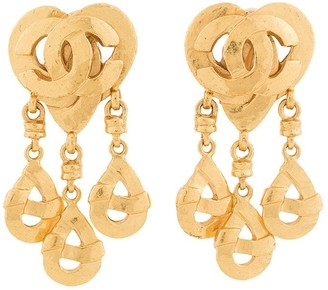 Chanel Pre Owned 1997 CC earrings