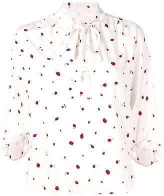 Parker Chinti & printed pussy bow blouse
