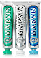 Marvis Classic Strong Mint, Aquatic Mint And Whitening Mint Toothpaste, 3 X 75ml