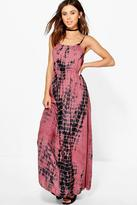 Boohoo Petite Charlotte Coin Back Tie Dye Maxi Dress