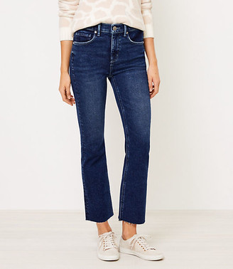 LOFT Tall Flare Crop Jeans in Bright Authentic Indigo