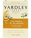 Yardley London Moisturizing Bath Bar Oatmeal & Almond 4.25 OZ - Buy Packs and SAVE (Pack of 3)