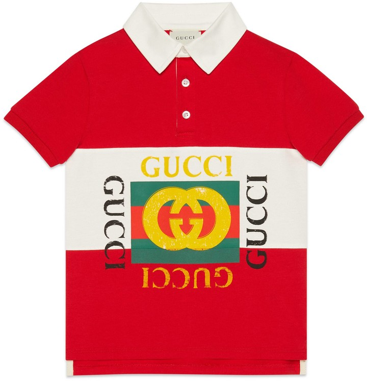 Gucci Children's polo with logo