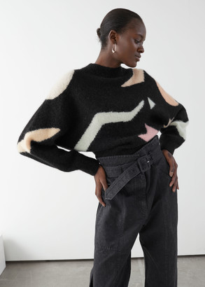 And other stories Geometric Colour Block Sweater