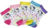 Hello Kitty 5 Pack Multi Dot Ankle Socks (Baby)-Multicolor-0-12M