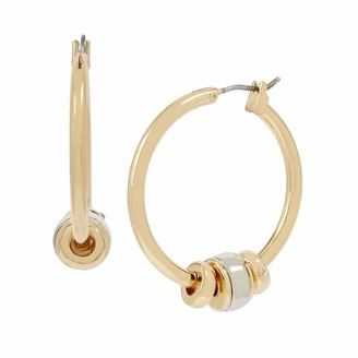 Kenneth Cole Women's Two-Tone Shaky Beaded Hoop Earrings One Size