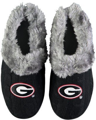 Women's Georgia Bulldogs Cable Knit Slide Slippers