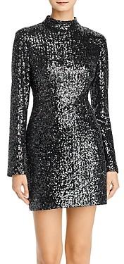 Rachel Zoe Pierina Long Sleeve Sequin Mini Dress