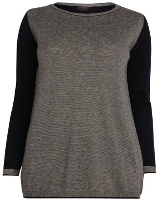 Marina Rinaldi Contrast Sleeve Sweater