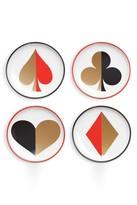 Jonathan Adler Full Deck Porcelain Coasters - Set of 4