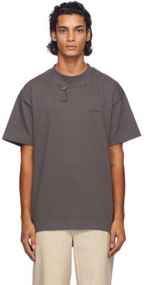 Jacquemus Grey Le T-Shirt Olive T-Shirt