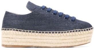 Prada Denim Espadrille Sneakers
