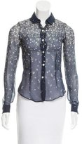 Opening Ceremony Printed Silk Blouse