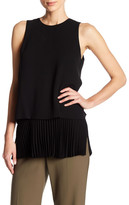 Theory Sleeveless Pleated Tiered Blouse