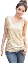 LolliLook Womens Shining Vest Bling Sequin Tank Top Sleeveless T Shirt Blouses