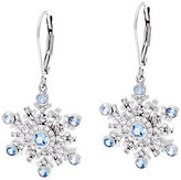 Hallmark As IsHallmark Sterling Cubic Zirconia Snowflake Dangle Earrings