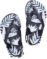 Joe Fresh Toddler Boys' Print Flip Flops, Blue (Size L)