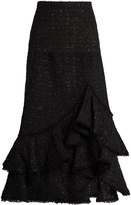 Erdem Cerena ruffled tweed skirt