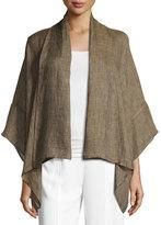 eskandar Linen Shawl Kimono Jacket