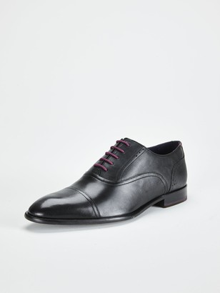 Ted Baker Circass Leather Oxford Toecap Shoes - Black