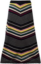 Antonio Marras striped a-line skirt