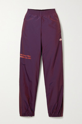 Adidas Originals By Alexander Wang Embroidered Printed Shell Track Pants - Dark purple