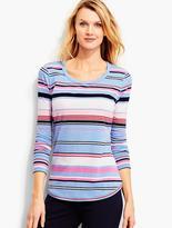 Talbots Everyday Long-Sleeve Tee-Getaway Stripe