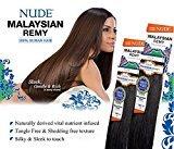 "Nude MALAYSIAN REMY YAKY (10"", 99J)- Model Model 100% Human Hair Weave"