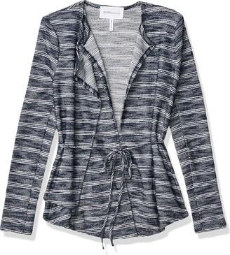 BCBGeneration Women's Asymetrical Drape Front Jacket