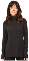 Heather Brushed Hacci Long Sleeve Turtleneck