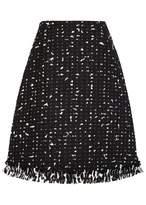 Paule Ka Monochrome Bouclé A Line Skirt