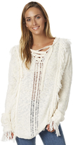 Billabong Womens Sea Haze Knit Hooded Pullover Natural