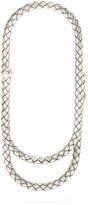 Bottega Veneta Intrecciato-engraved silver money clip