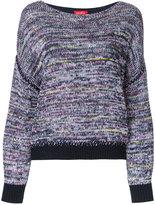 Coohem boat neck jumper - women - Cotton/Linen/Flax/Acrylic/Polyester - 36