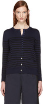 Sacai Navy Striped Knit Cardigan