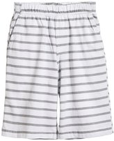 City Threads Soft Stripe Jersey Shorts (Toddler/Kid) - White-10