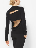 Michael Kors Slit-Back Cashmere Sweater
