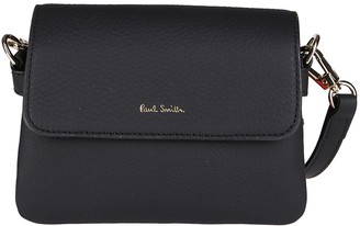 Paul Smith Black Leather Mini Concertina Crossbody Bag